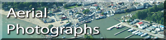 Photo link to aerial photographs of Simcoe and area, Norfolk County on Lake Erie Ontario. on the Gold Coast